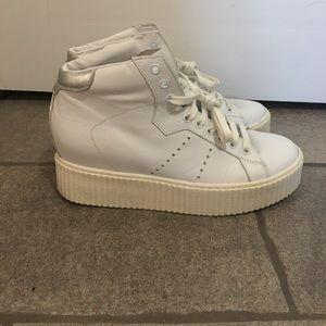 Steve Madden White Platform Sneaker Wedge